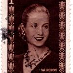 """Eva Peron Argentina First Lady Stamp: Wearing Ruby"" by WilshireImages"