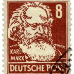 """Karl Marx German Postage Stamp"" by WilshireImages"