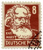 Karl Marx German Postage Stamp
