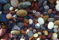 wave polished beach pebbles
