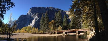 Yosemite Valley River and Bridge