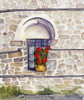 Window with Geraniums, Arbanassi, Bulgaria