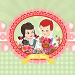 """Flower Children Retro Kitsch"" by floppypoppygifts"