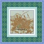 """Casablanca Map with Tile Border"" by amproehl"