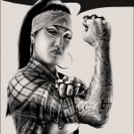 """Rosa the Riveter"" by artilleryink"