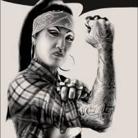 Rosa the Riveter Art Prints & Posters by Luke Atay