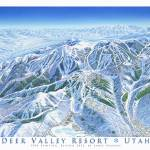 """Deer Valley 1998 trail map image"" by jamesniehuesmaps"