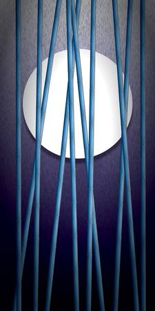 Bamboo Disk (Blue Tall)