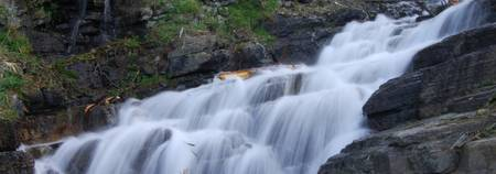 Cascading Waterfall in Glacier NP