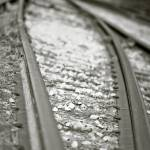 """Converging Train Rails"" by jamiestarling"