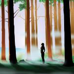 """Cool Forest Myst - Silhouette"" by Art_By_Design_Studio"