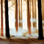 """Warm Forest Myst"" by Art_By_Design_Studio"