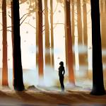 """Warm Forest Myst - Silhouette"" by Art_By_Design_Studio"