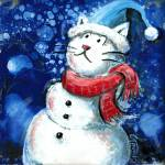 """Snow Cat, by GG Burns, Kentucky Artist"" by ggsfunctionalart"