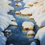 """Snowy Fairytale River"" by kirilart"