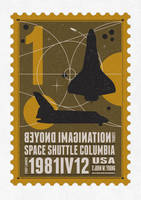 Starships 01- poststamp - Spaceshuttle nasa