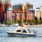 """Cabin Cruiser by Baltimore Skyline"" by susansartgallery"