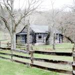 """Martins Log Cabin,Boonesboro, Kentucky"" by BrendaSalyersArt"
