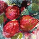 """""""Red Pear Gathering"""" by eileenmurray"""
