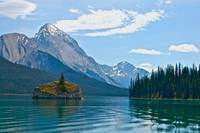 Island in Maligne Lake - Jasper National Park