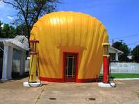 Shell Shaped Gas Station