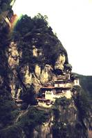 Tigers Nest Bhutan and prayer flags 5 rainbow