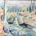 """mountain stream"" by craigcalabresewatercolors"