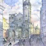 """""""Duomo di Genova"""" by lucamassonedisegni"""