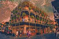 Saint Philip and Royal streets in French Quarter N