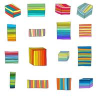 Sixteen Striped Boxes