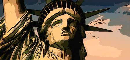Statue of liberty face close up 2