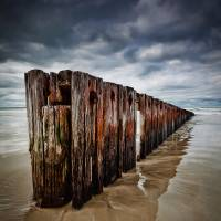 Sea Barrier, Port Fairy, VIC, AU Art Prints & Posters by Oat Vaiyaboon