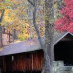 """autumn covered bridge 1"" by GenaLoy"