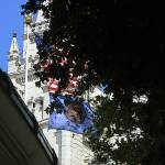 """""""Temple, Tabernacle, Flag on Temple Square"""" by Triflour"""