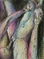 Untitled erotic ink and watercolor 12142012
