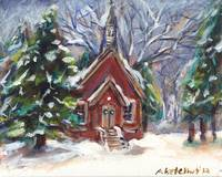 little church white Christmas