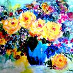 """Yellow Roses"" by cneartgallery"
