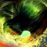 """Space Time Abstract Hurricane Eye"" by saintrt1"