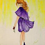 """OP-038 Lady in Purple Dress"" by cneartgallery"