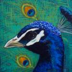 """Peacock 3 painting"" by kogi"