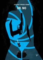 No024 My Dr No James Bond minimal movie poster
