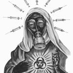 """Our Lady Of Germ Warfare"" by kathleencain"