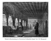 Monk's Illuminating in a Convent
