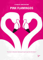 No142 My PINK FLAMINGOS minimal movie poster