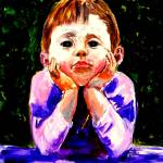 """AP-009 A Young Boy is Waiting"" by cneartgallery"