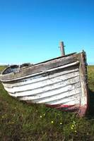 Old Boat in Sea of Grass