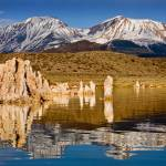 """Mono Lake Mountain Reflections"" by pbk"