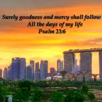 """Psalm 23 , Goodness, City and Sky"" by sghomedeco"