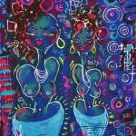 """""""2 girls in blue"""" by BebeePino"""