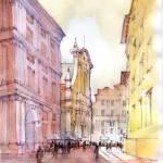 """""""Scorcio di Piazza De Ferrari a Genova"""" by lucamassonedisegni"""